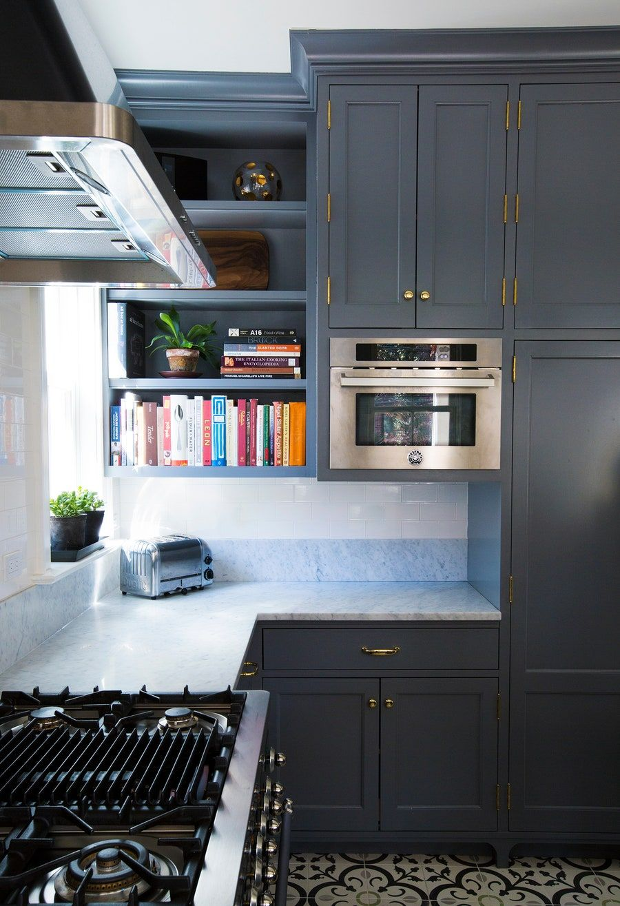 Pin By David Meneces On Tv Moderno: Before And After: A White-and-Gray Kitchen Renovation In