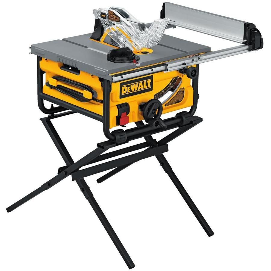 Dewalt 10 In Carbide Tipped Blade 15 Amp Portable Table Saw Lowes Com Portable Table Saw Best Table Saw Table Saw Workbench
