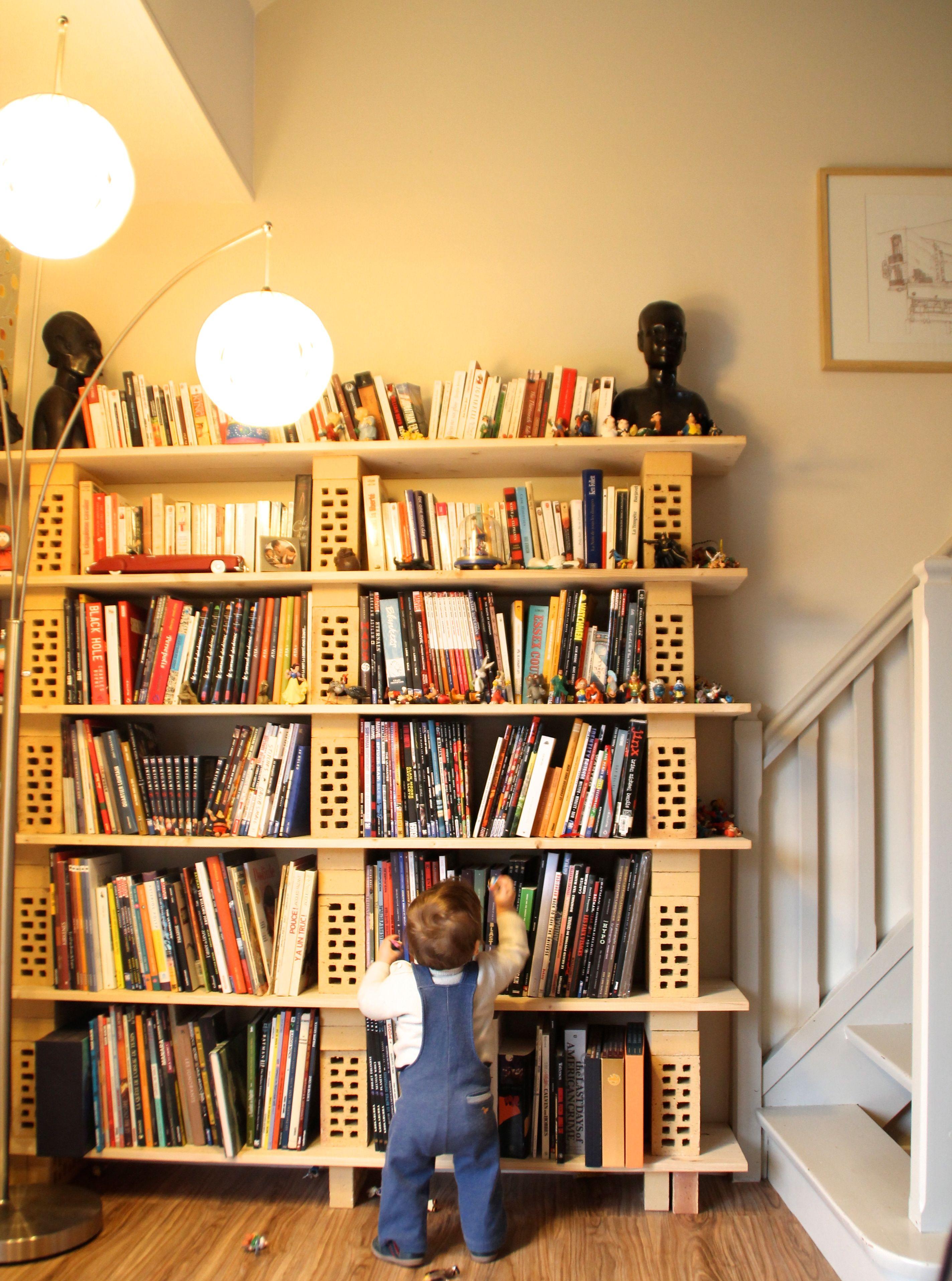 Pingl Par Irina Hefft Sur Furniture Pinterest Placard Et Diy # Etagere Verre Et Brique
