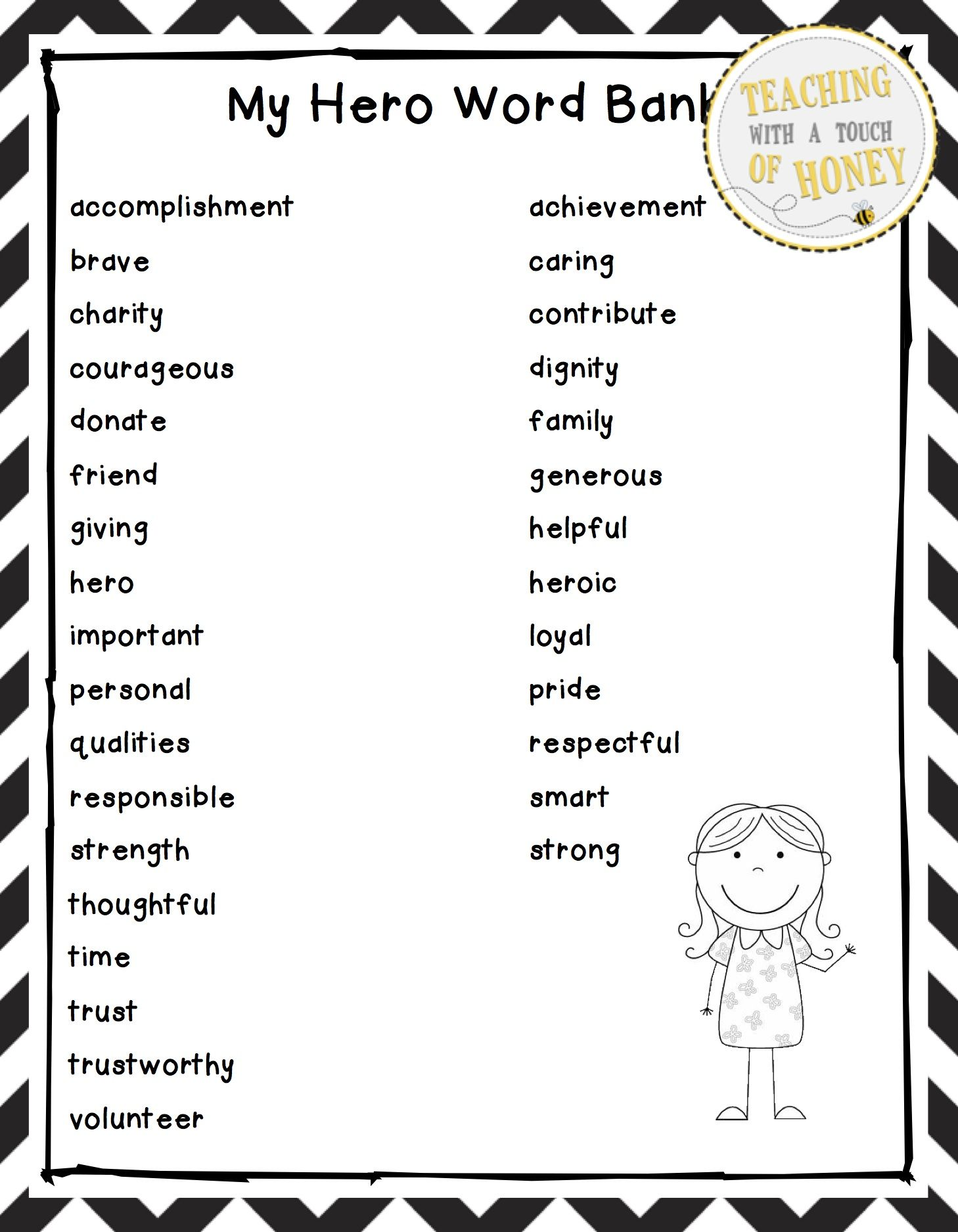 Hero Writing Activity