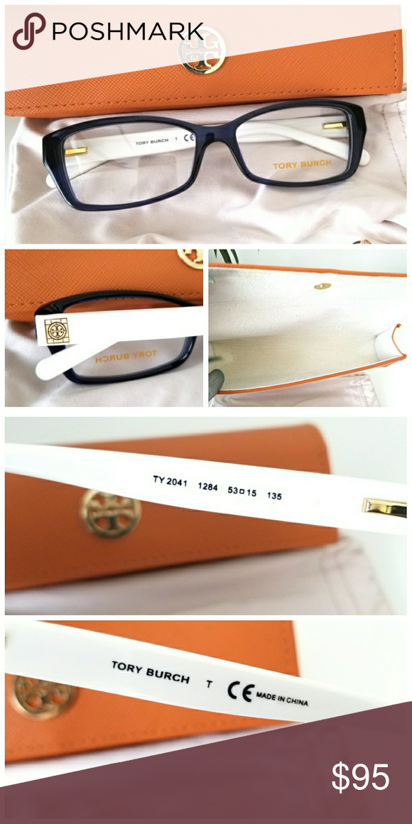 d63761c4d8f9 *Navy Blue* Tory Burch Rx glasses Navy blue & white frame. Demo lens, so  you have to add your prescription. Brand new never worn.