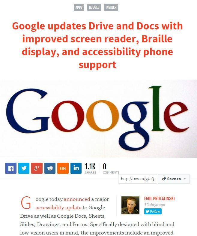 Google Drive and Docs Get Improved Screen Reader, Braille Web - spreadsheet google docs mobile