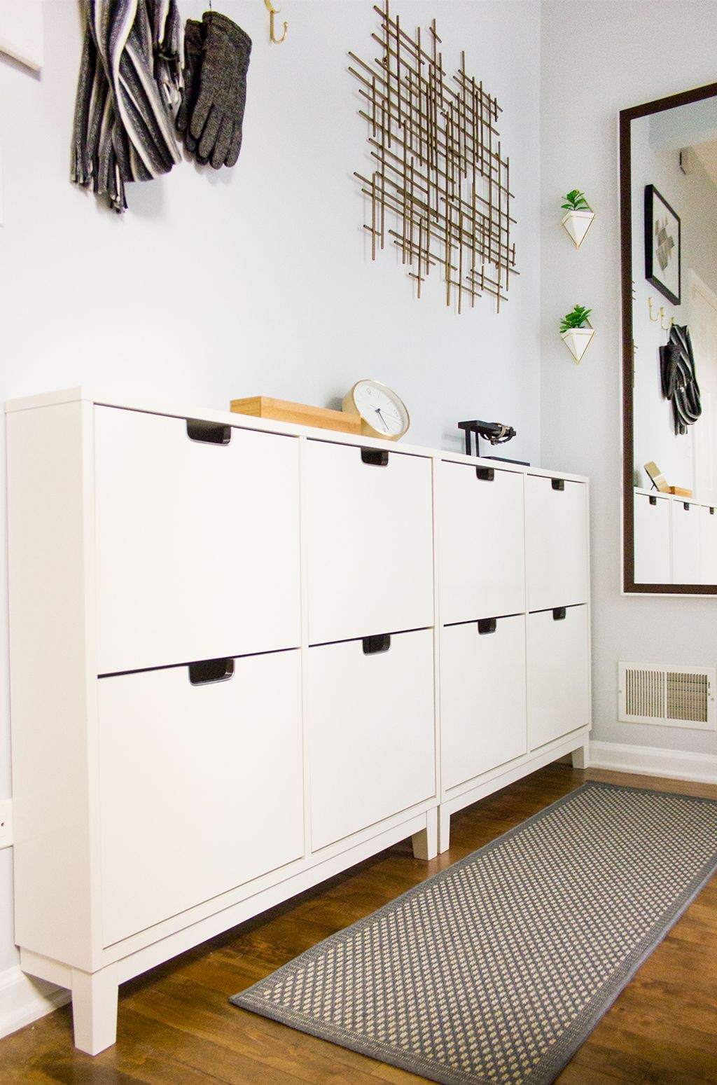 Hallway furniture for small space  Before and After A Dead Entryway Gets a Functional Facelift  Empty