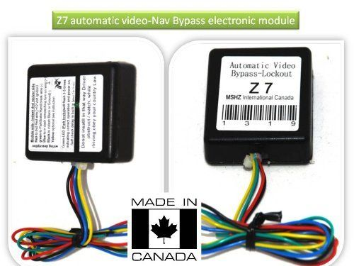 Automatic video byp Lockout For Kenwood DNX-9960 DNX-9980 DNX ... on