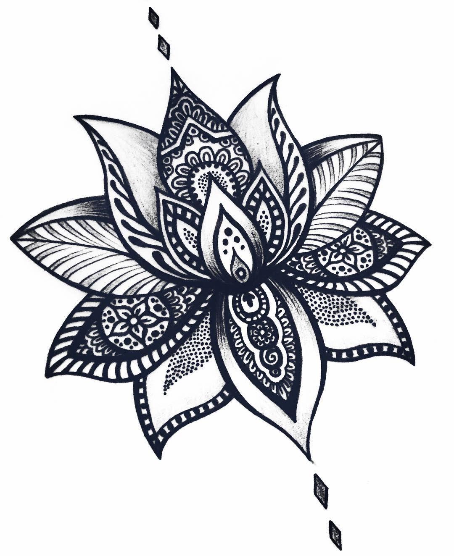Flor De Loto Mandala Mandalas Mandalatattoo Lotusflower
