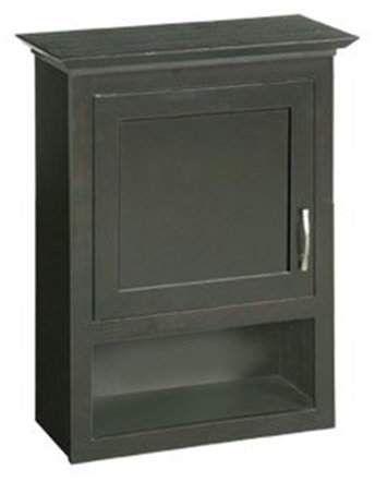 TEMPLETON Ventura Espresso Bathroom Wall Cabinet with 1-Door and 1