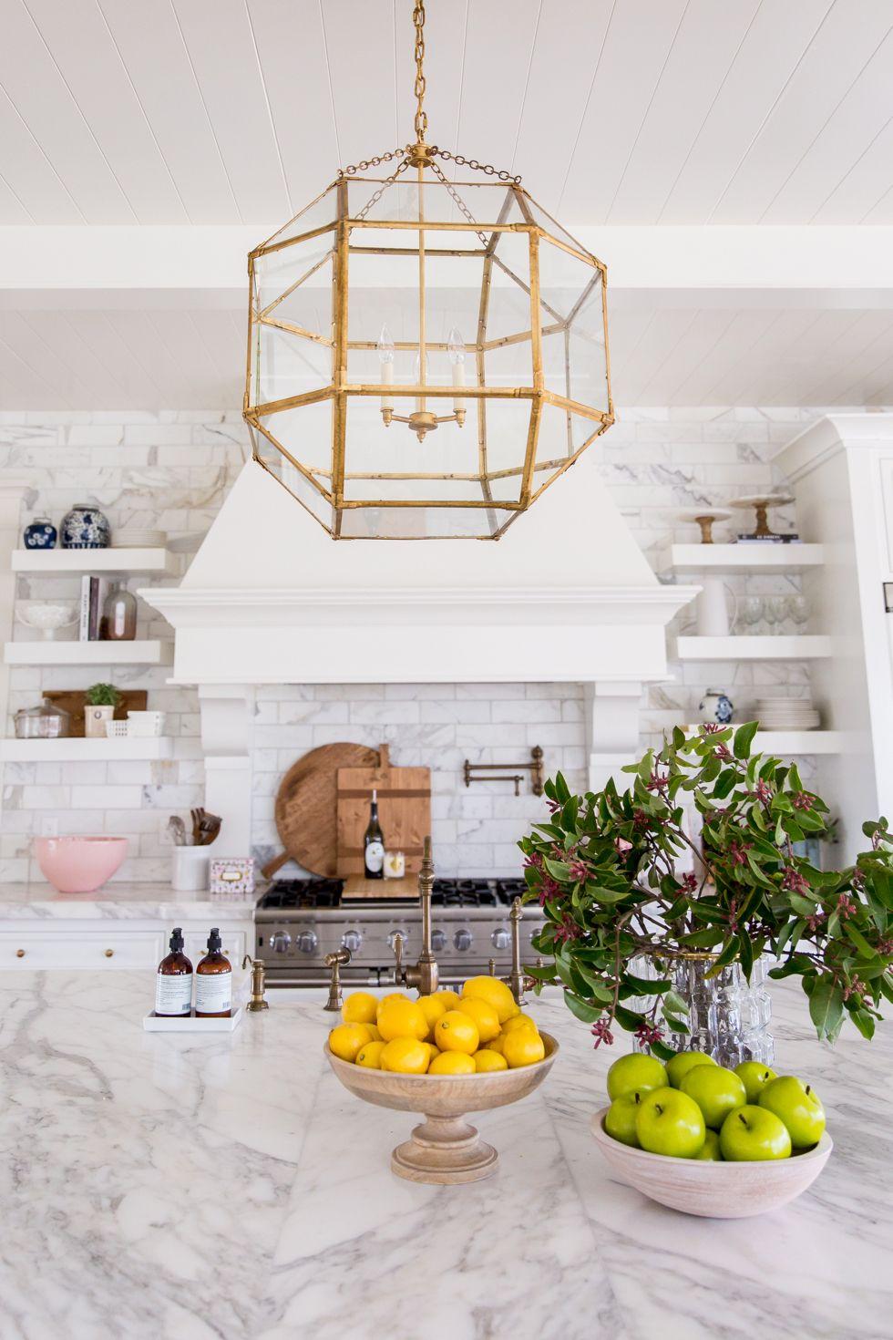 white marble in kitchen
