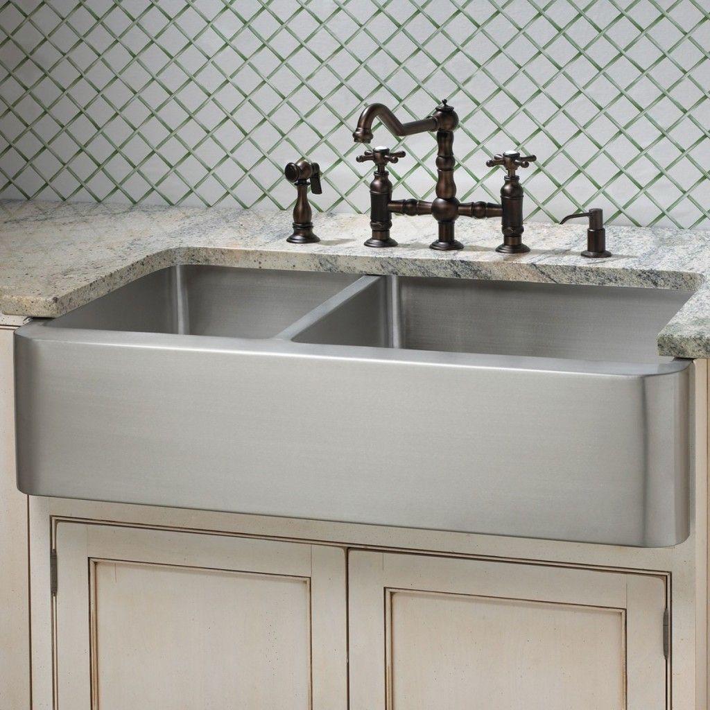 Kitchen Faucets For Apron Sinks Farmhouse sink kitchen