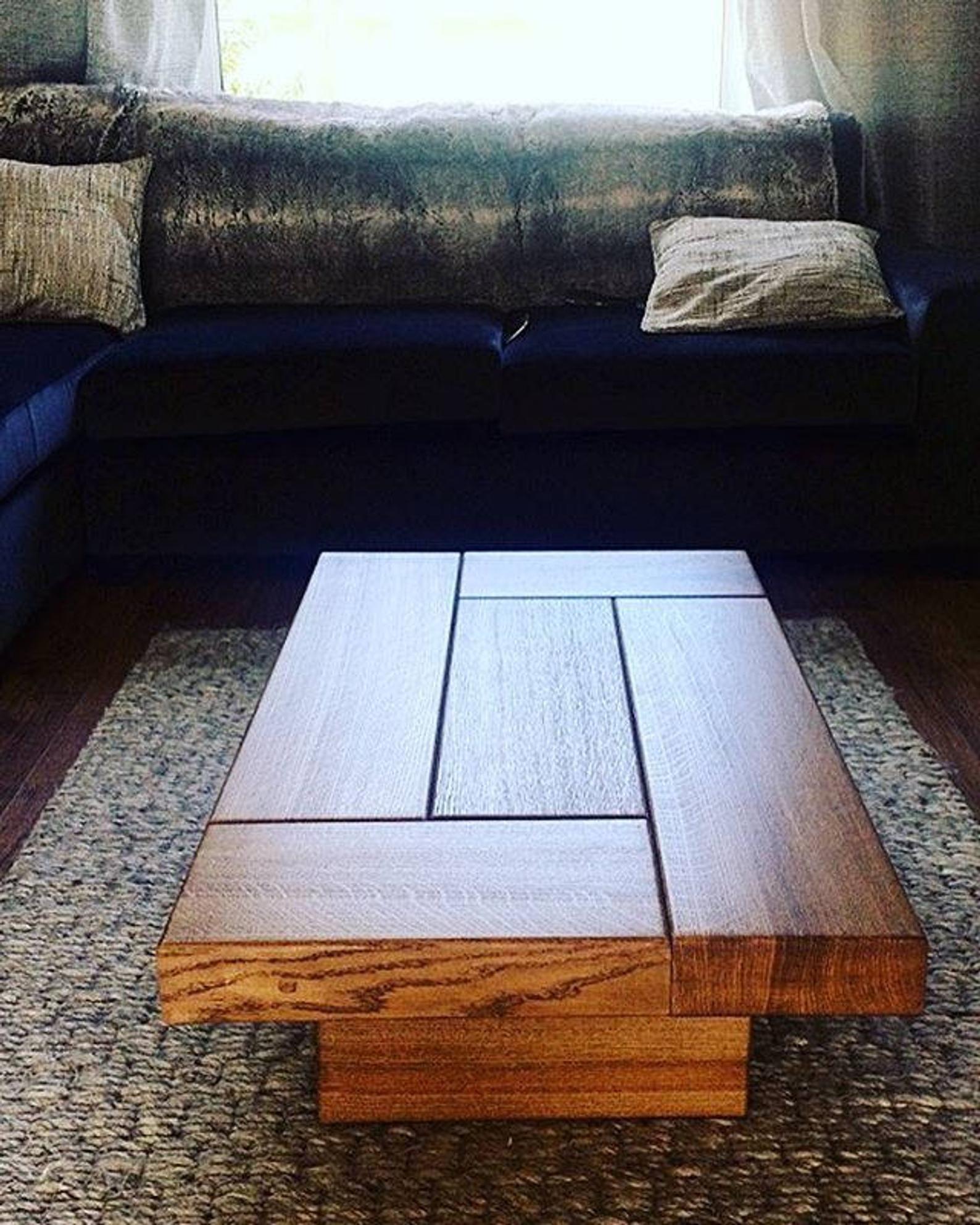Oak Coffee Table Sleeper Coffee Table Rustic Coffee Table Etsy Wooden Coffee Table Designs Handmade Coffee Table Oak Coffee Table [ 1983 x 1588 Pixel ]