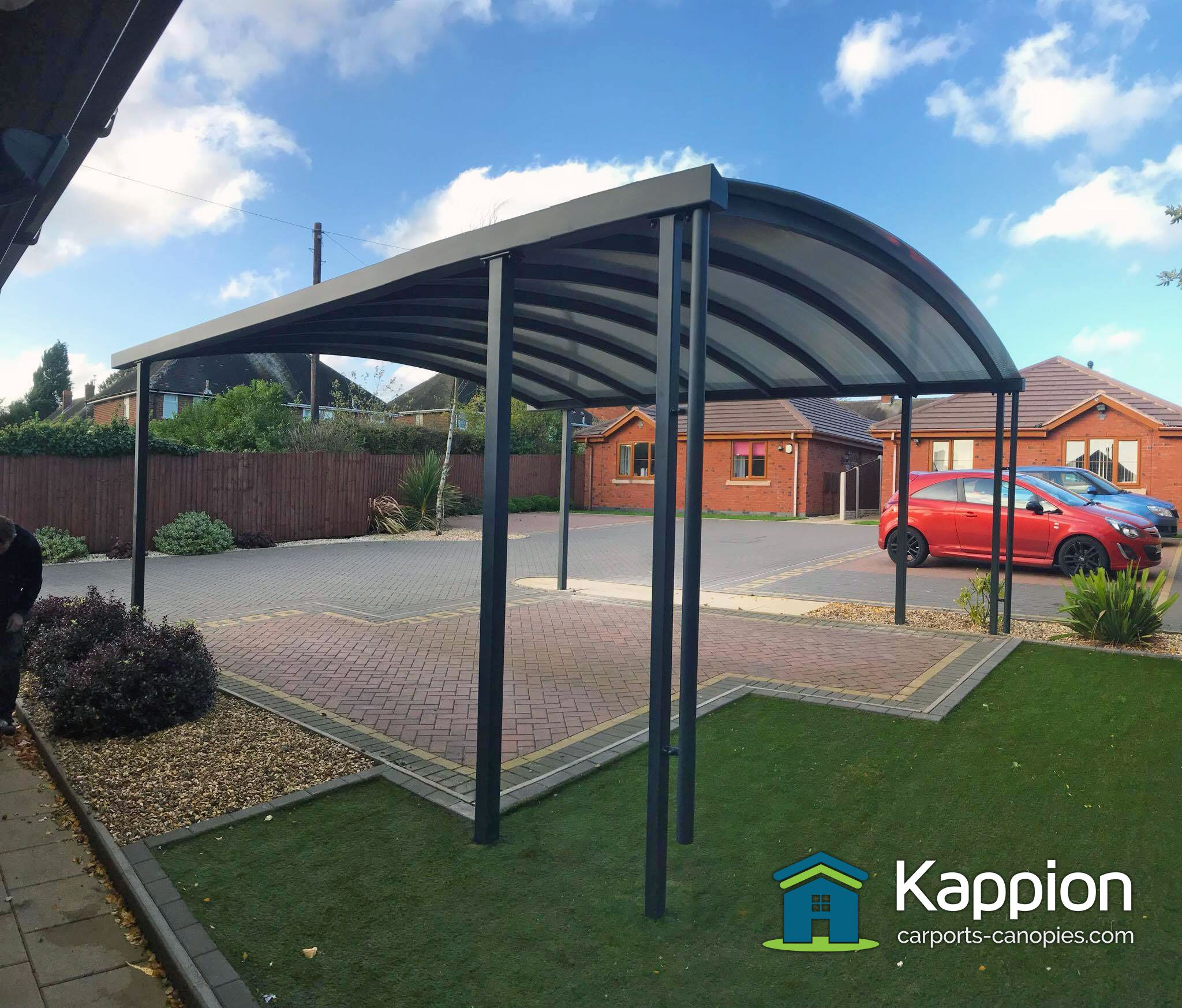 Contemporary carport installed by the Kappion team. (With