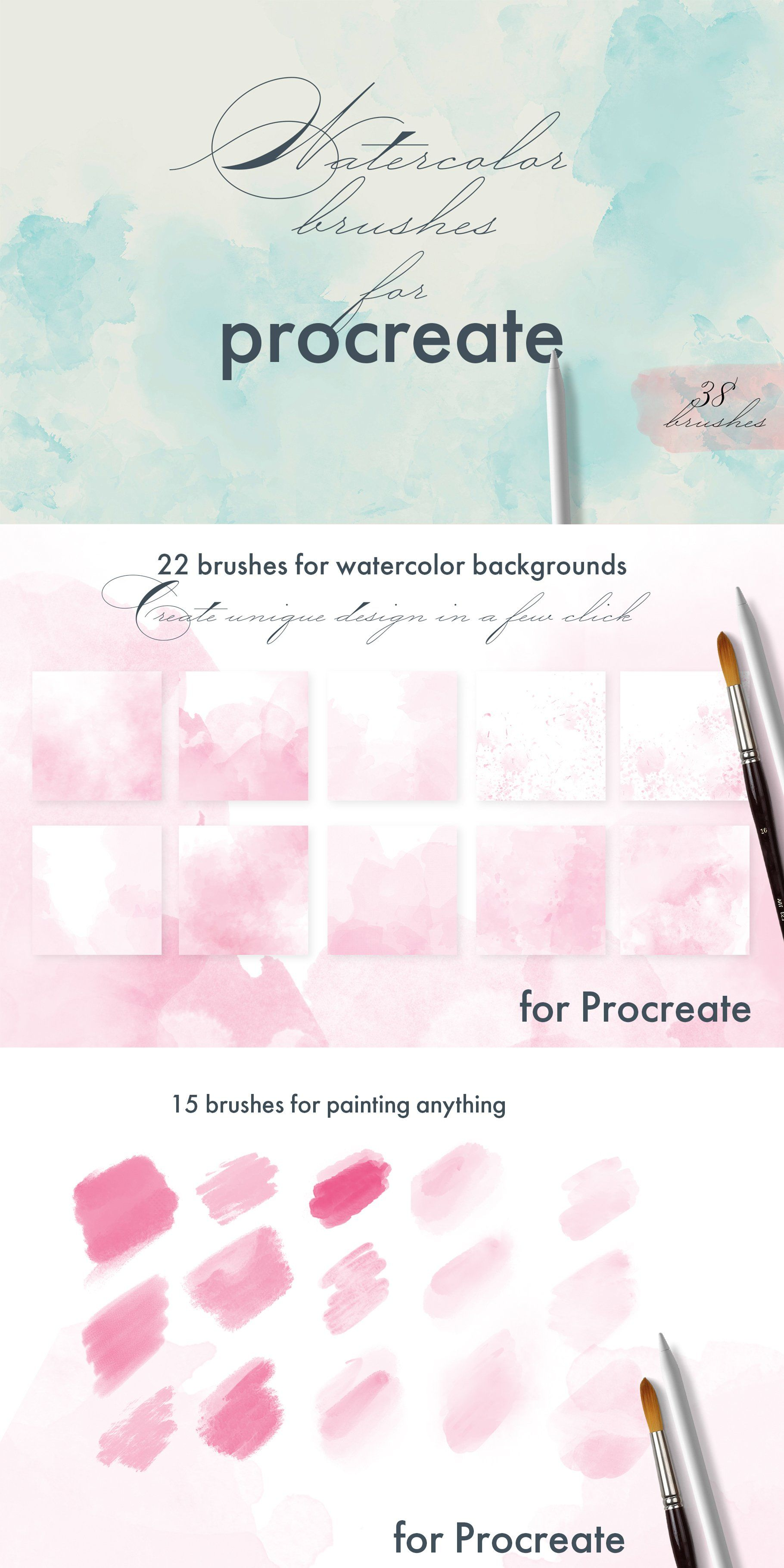 Procreate Watercolor Brushes Watercolor Brushes Watercolor