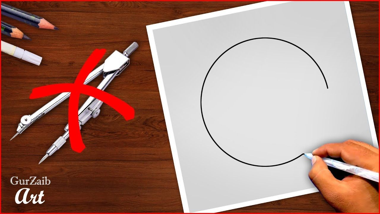 How To Draw Perfect Circles Without Compass With Free Hands Amazing C Circle Drawing A Perfect Circle Free Hand Drawing