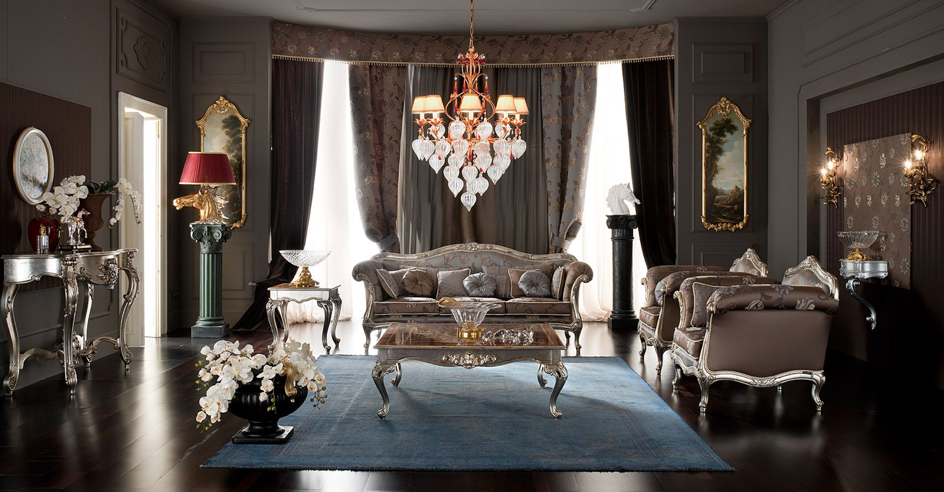 Classic Silver Livingroom  Google Search  Classic Salon Fair Blue And Silver Living Room Designs Decorating Design