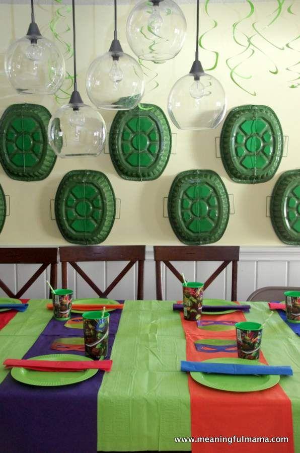 Teenage Mutant Ninja Turtles Party Ideas Tmnt Birthday Party Ideas Ninja Turtle Party Ninja Turtle Decorations