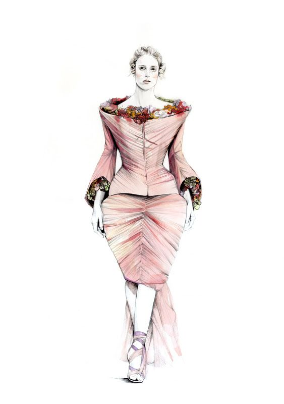 WASTED TALENT: A Fashion + Lifestyle Blog: ALEXANDER MCQUEEN SKETCHES