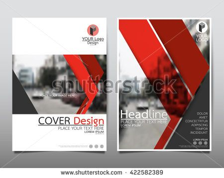 Red Technology Annual Report Brochure Flyer Design Template Vector
