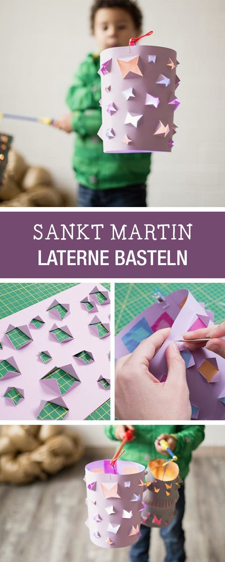 Basteln im Herbst mit Kindern: Laterne für Sankt Martin basteln / lantern diy for the fall season, crafting with kids via DaWanda.com #spinnennetzbasteln