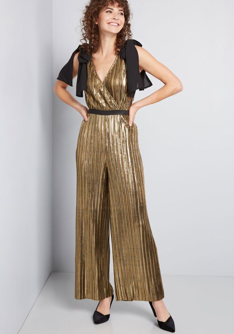 70s Dresses Boho Hippie Disco Wrap Dresses Greet With Pleats Wide Leg Jumpsuit In M Long 105 Pleated Fabric Dress Metallic Jumpsuits Wide Leg Jumpsuit [ 1097 x 768 Pixel ]