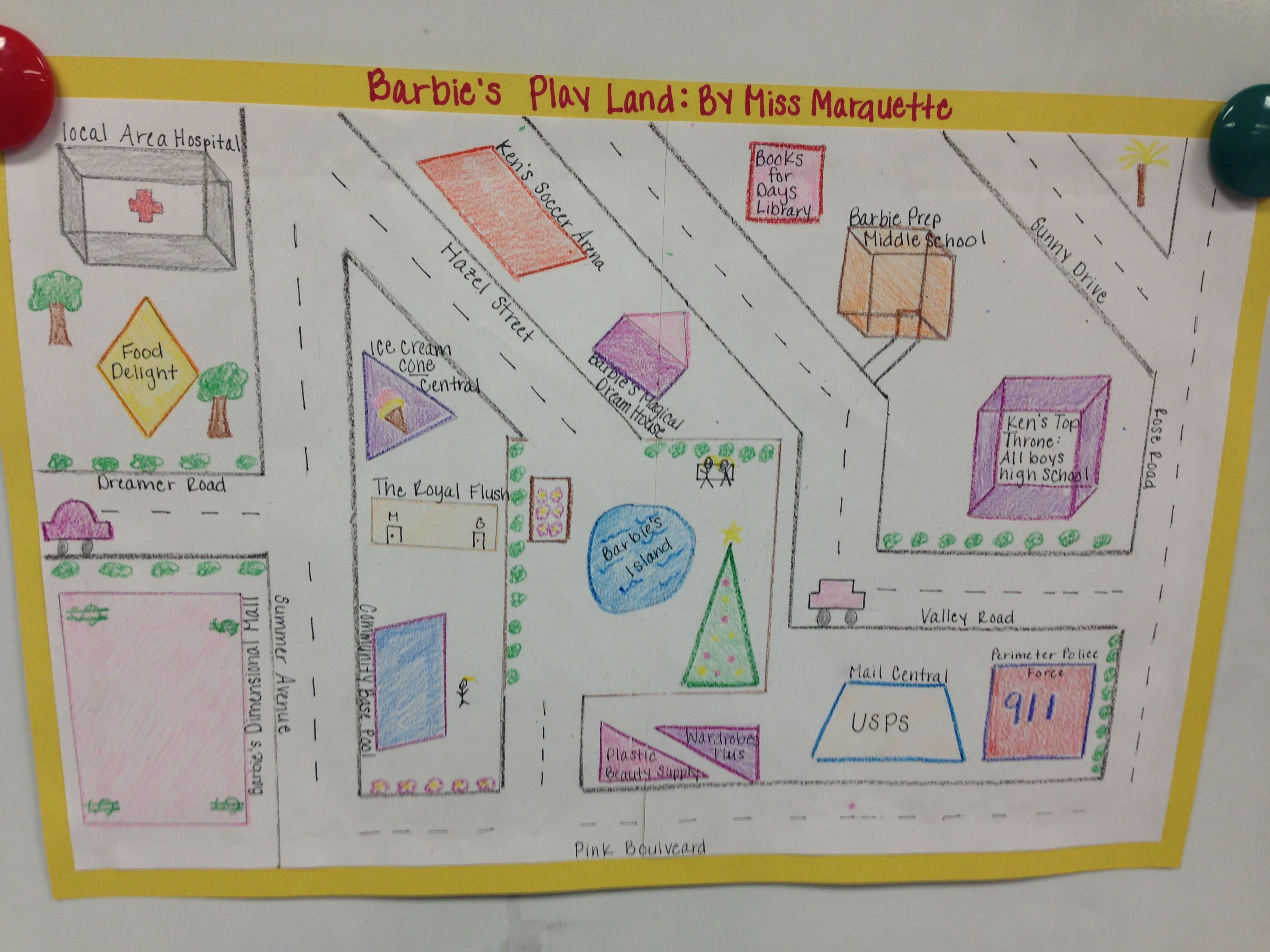 Geometric Town For An Enrichment Activity I Used This As