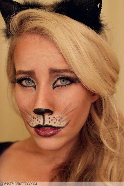 Kitty Cat Makeup Tutorial Halloween costumes, Costumes and Tutorials - cat halloween makeup ideas