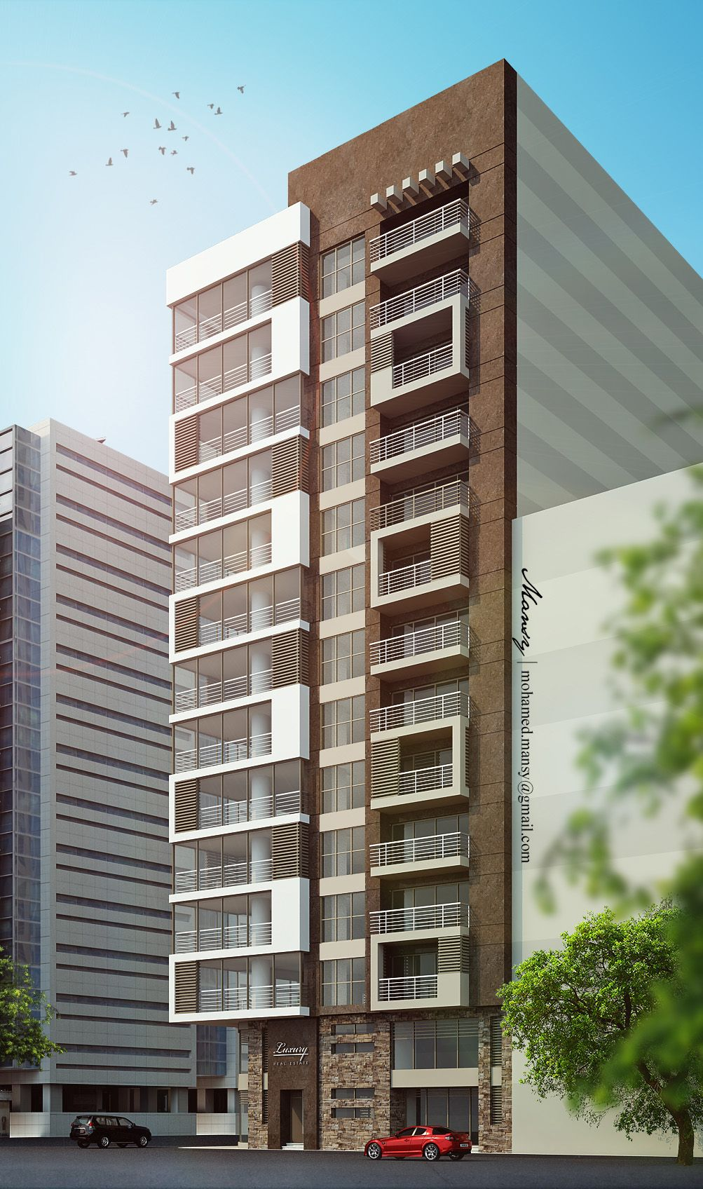 Architectural Design Of Residential Building Luxury High Rise Residential Apartment Building On Behance