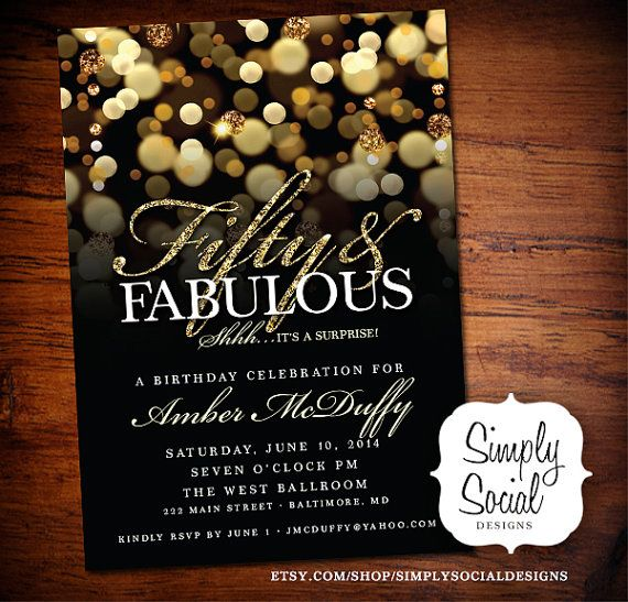 Surprise 50th Birthday Party Invitation By