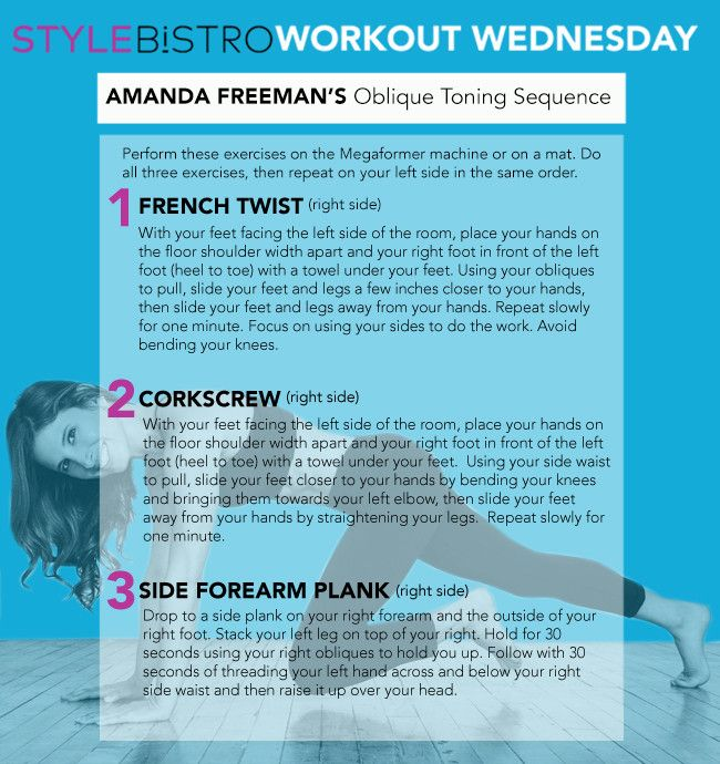 Workout Wednesday: Amanda Freeman's Oblique Toning Sequence