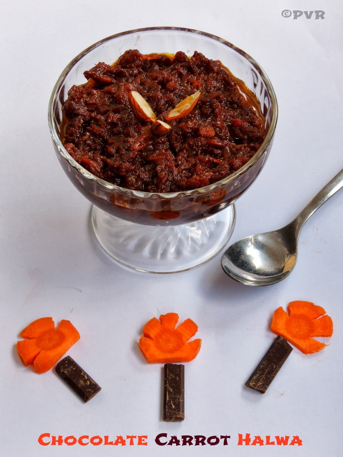 Priya's Versatile Recipes: Chocolate Carrot Halwa