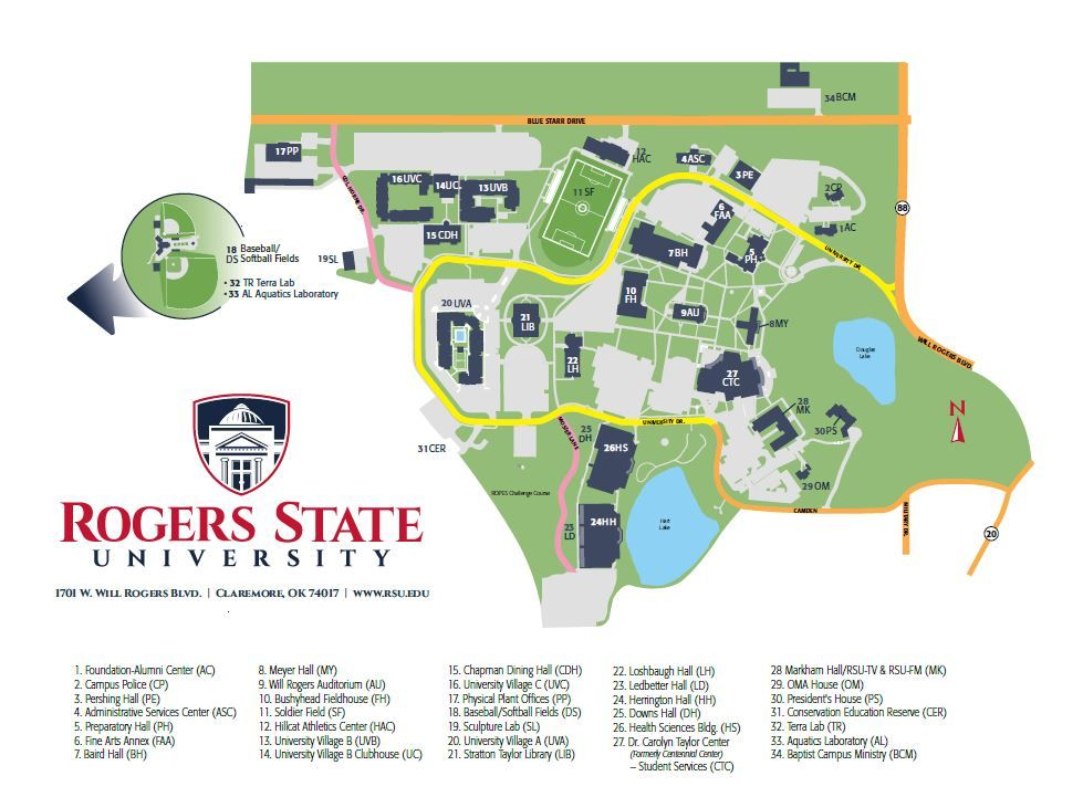 metro state campus map Maps Directions Rogers State University State University metro state campus map
