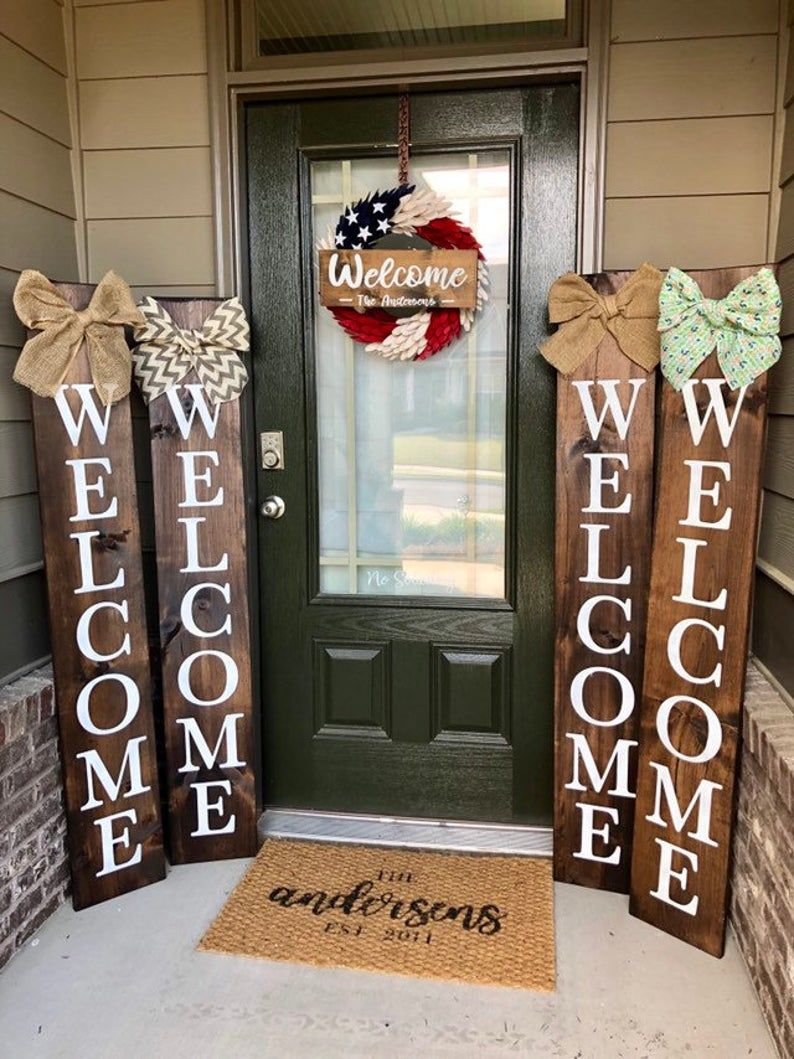 Welcome Sign Personalized Welcome Sign Front Porch Sign Etsy Front Porch Signs Porch Welcome Sign Porch Signs