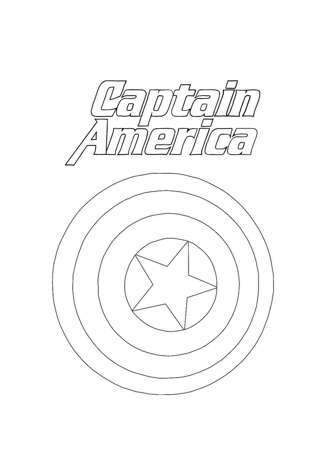 Captain America Shield Coloring Page Captain America Coloring Pages Captain America Shield Coloring Pages
