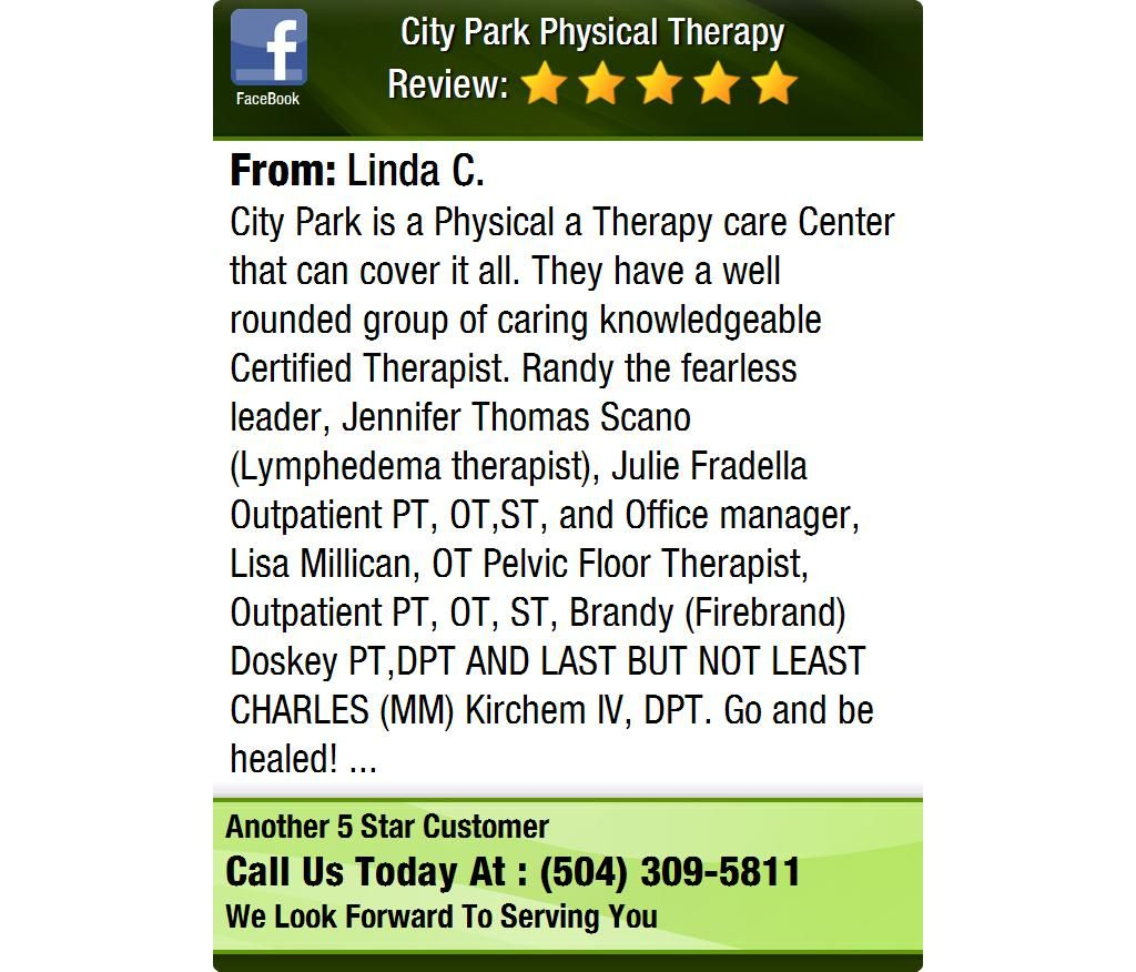 City Park is a Physical a Therapy care Center that can