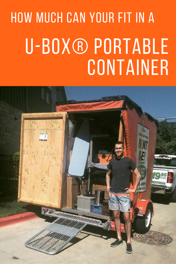 How Much Can You Fit In A U Box Container Moving Storage Containers Self Storage Portable Storage