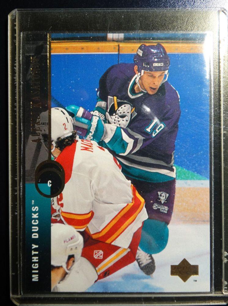 1994 95 Upper Deck 105 Anatoli Semenov Ducks Hockey Error Wrong Name Card Ebay Hockey Cards Ducks Hockey Hockey