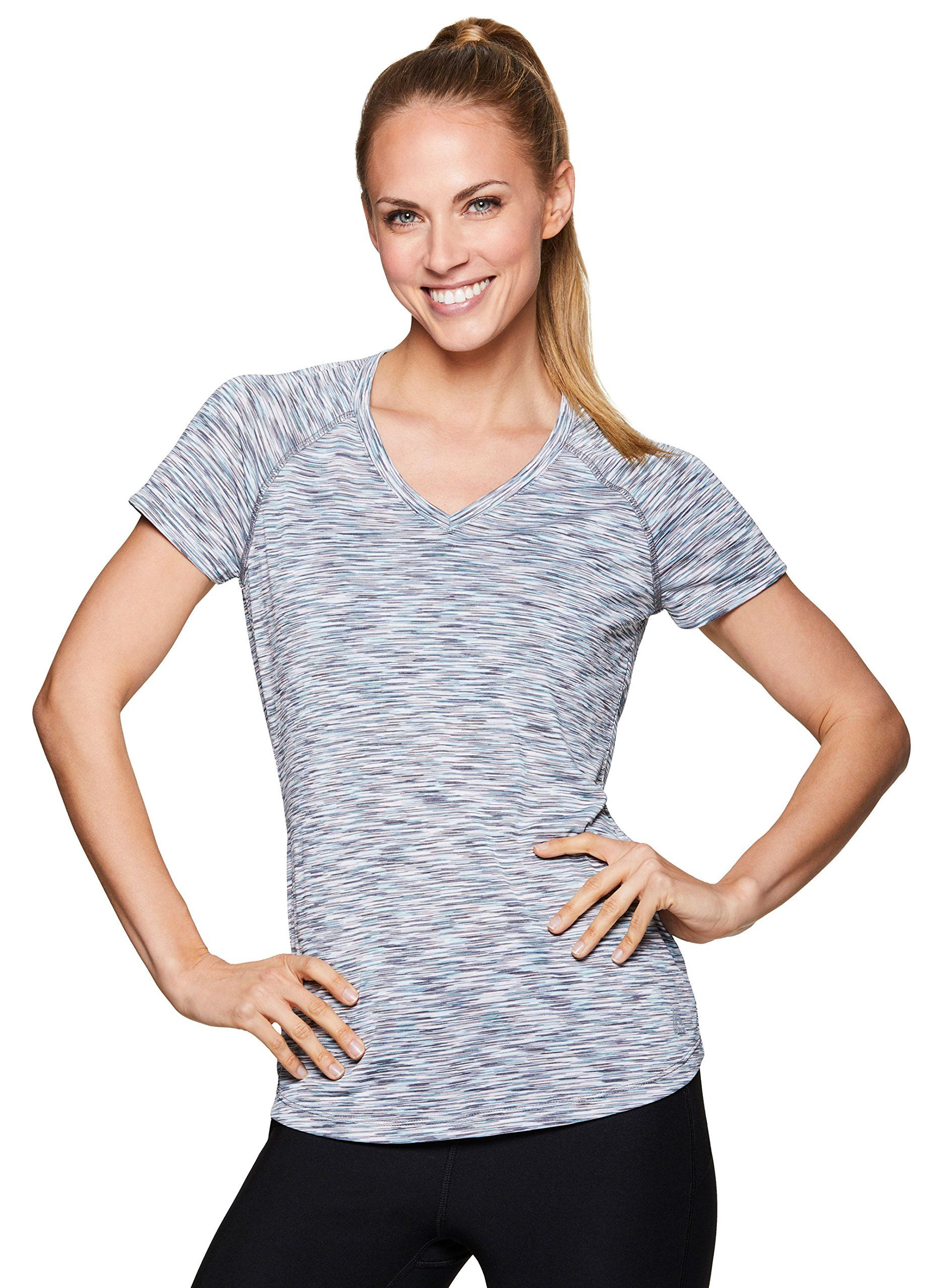 47b3a7dc5b RBX Active Womens Short Sleeve Yoga Workout Shirt Spring Blue L >>> More  info could be found at the image url. (This is an affiliate link and I  receive a ...