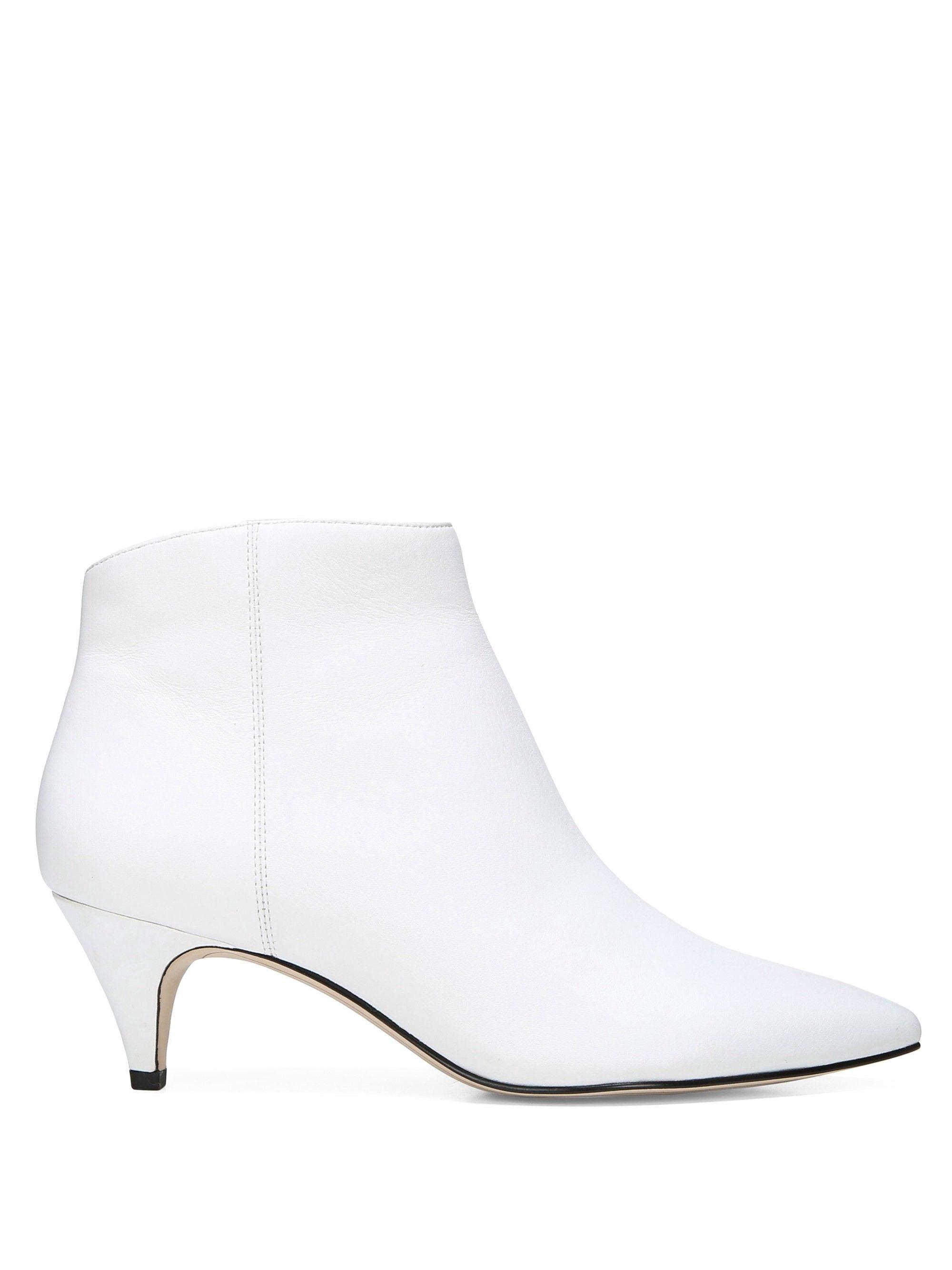 757e764d20db7 Sam Edelman Kinzey Leather Kitten Heel Booties - Bright White 6.5