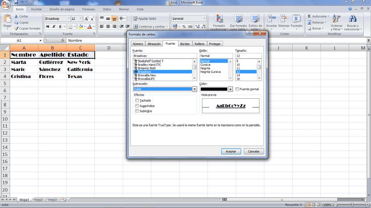 Introducción Al Formato De Celdas En Excel Hojas De Cálculo Microsoft Excel Informática