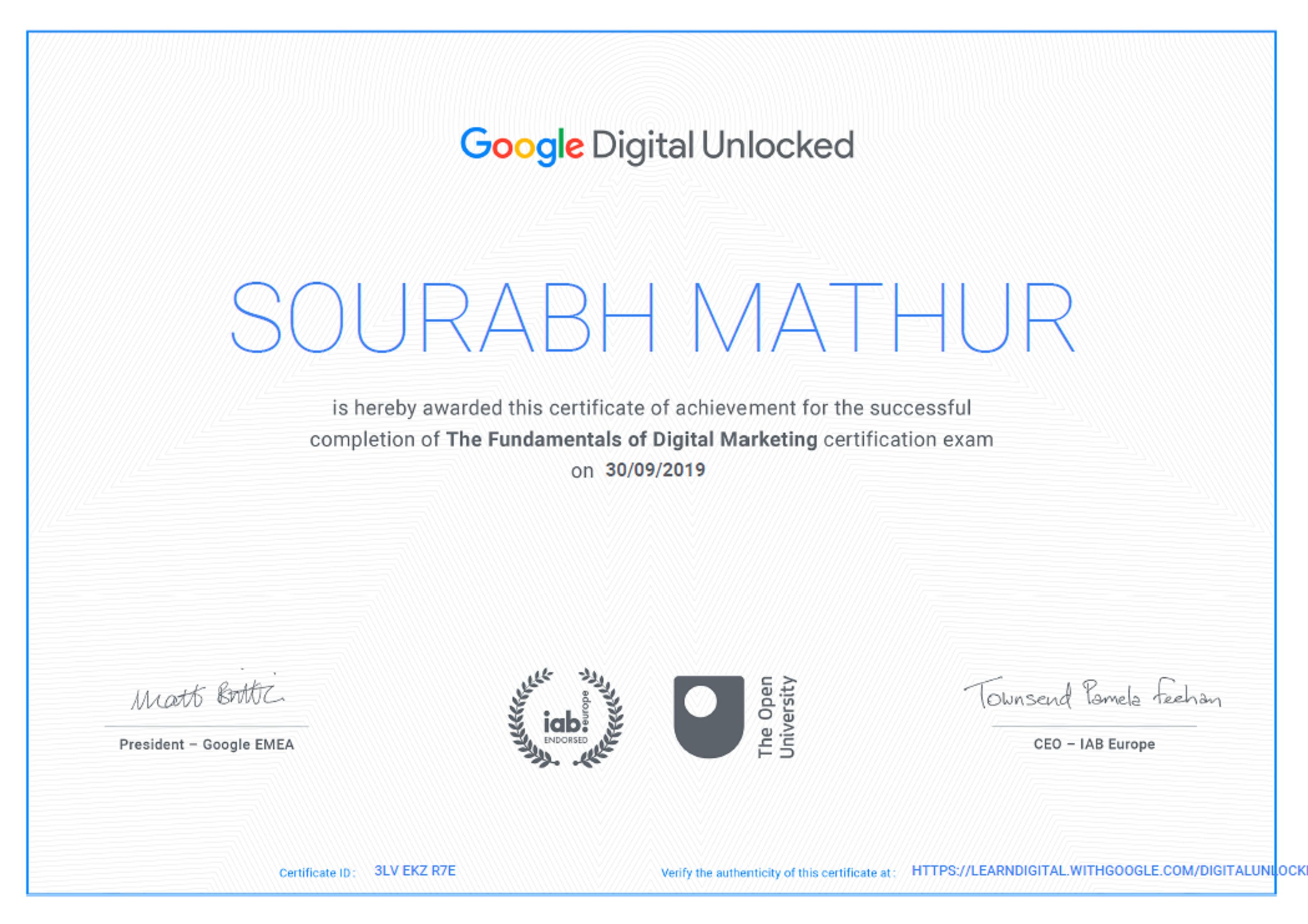 Of degree students, and more. Google certification | Digital Marketing | Online digital ...