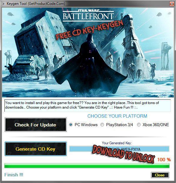 star wars battlefront 2 pc key code