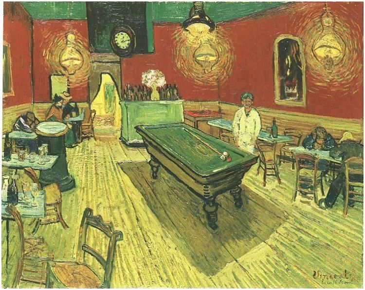 vincent van gogh night cafe in the place lamartine in arles art by vincent van gogh pinterest. Black Bedroom Furniture Sets. Home Design Ideas