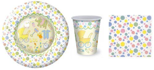 Baby Shower Paper Dinner Plates Napkins and Warm/Cold Cups (8 Plates  sc 1 st  Pinterest & Baby Shower Paper Dinner Plates Napkins and Warm/Cold Cups (8 ...