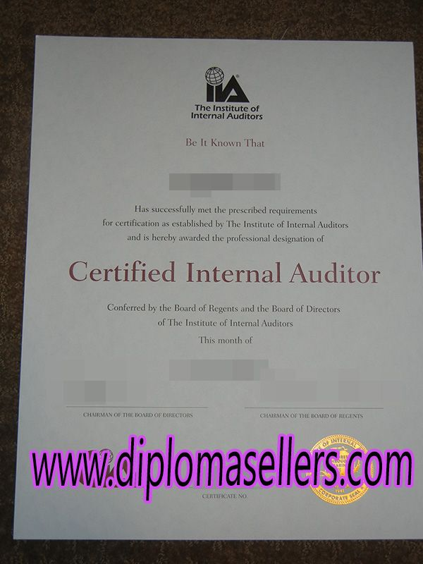 Buy Iia Certificate How To Buy Fake Ciacertified Internal Auditor
