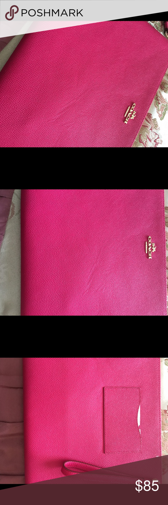 Coach iPad Pro Case Coach case for IPad Pro.  Also has a section for cards and a phone Coach Bags Cosmetic Bags & Cases