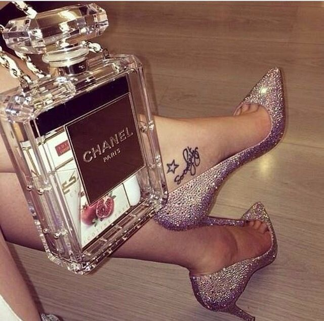 Chanel, louboutin and crystals .. Perfect