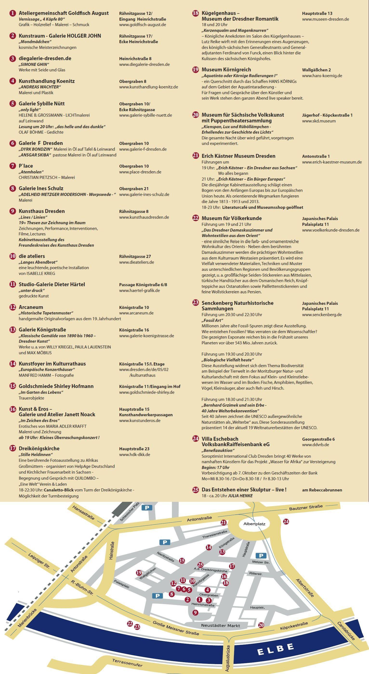 Programm Und Location Zur Langen Nacht Der Galerien Und Museen Im Barockviertel Dresden Kubanight Www Kunstindresden De 11 10 2013 Dresden Museum Skulpturen