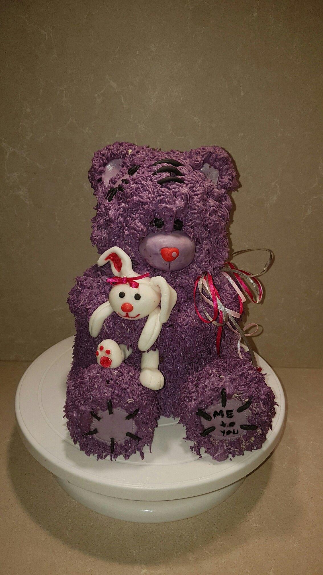 Motivtorte 3D Teddycake Teddybär Teddy Bear Fondant Hase Buttercreme