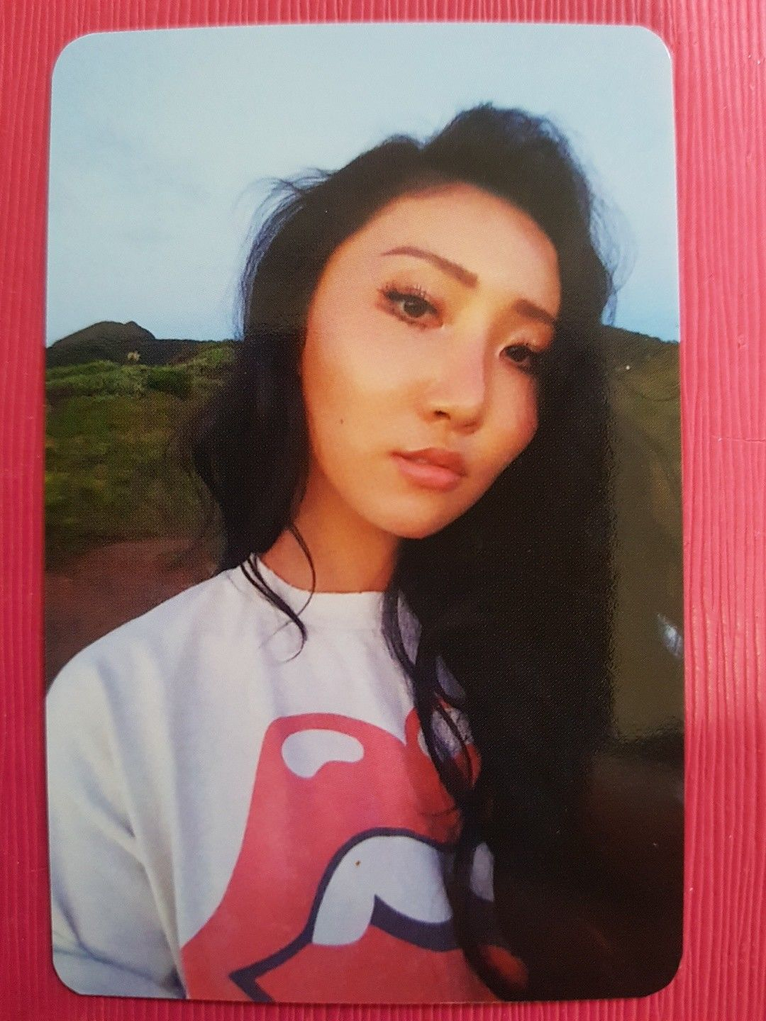 10.44 Mamamoo Hwasa Authentic Official Photocard Yellow