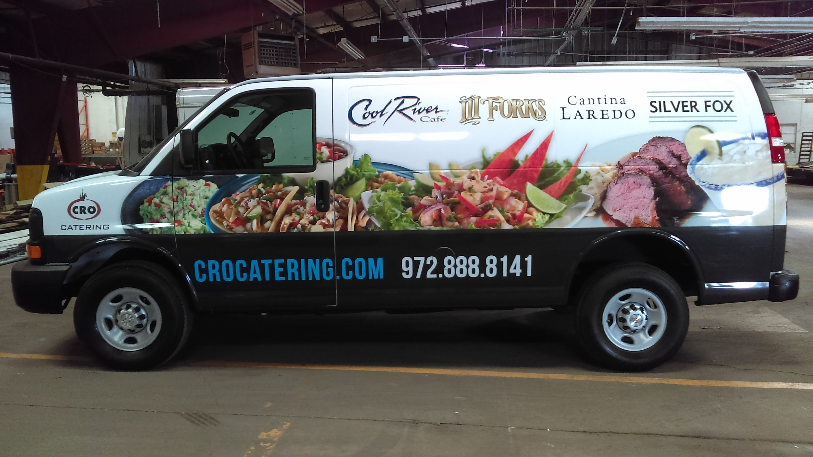2015 Chevy Express Catering Van With Custom Skinzwrap For Cro