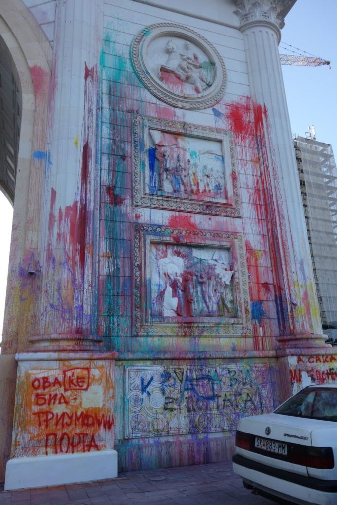 Protesting The Government In Macedonia With Flying Paint Bombs Eastern Europe Travel Macedonia Eastern Europe Travel Destinations
