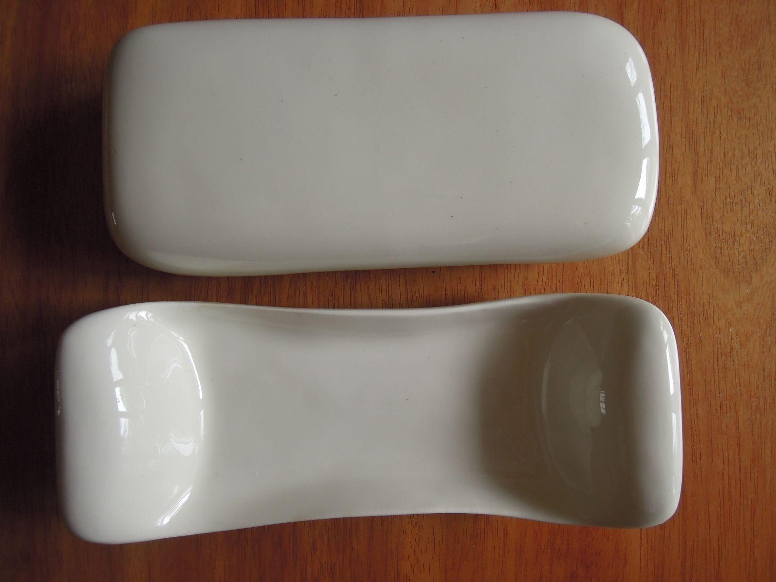 russel wright american modern steubenville white butter dish with  - russel wright american modern steubenville white butter dish with lid  ebay